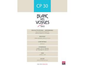 UNI Blanc Bouclette coton/polyester imperméable