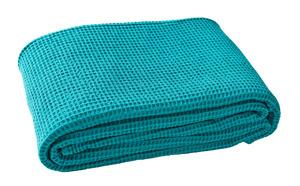 ELECTRE Turquoise Piqué nid d'abeille coton Stonewashed