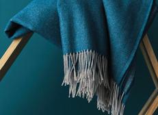 PLAID - KATMANDOU Bleu Paon