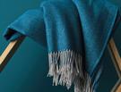 KATMANDOU Bleu paon 100% laine vierge mérinos