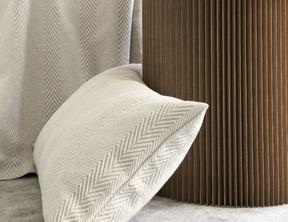 CHEVRONS Naturel Piqué coton-lin stonewashed
