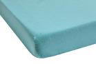 DELHI Turquoise Satin Jacquard coton-lin stonewashed