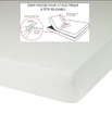 UNI Blanc Molleton 100% coton. Film PVC côté matelas