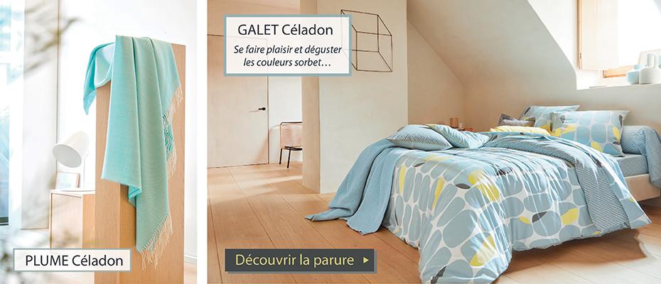 GALET PLUME celadon