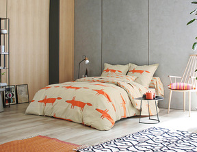 MR FOX Mandarine Percale 100% coton