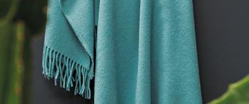 Décoration plaid Cuba Turquoise