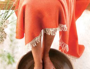 TRAVEL Orange 100% laine vierge mérinos