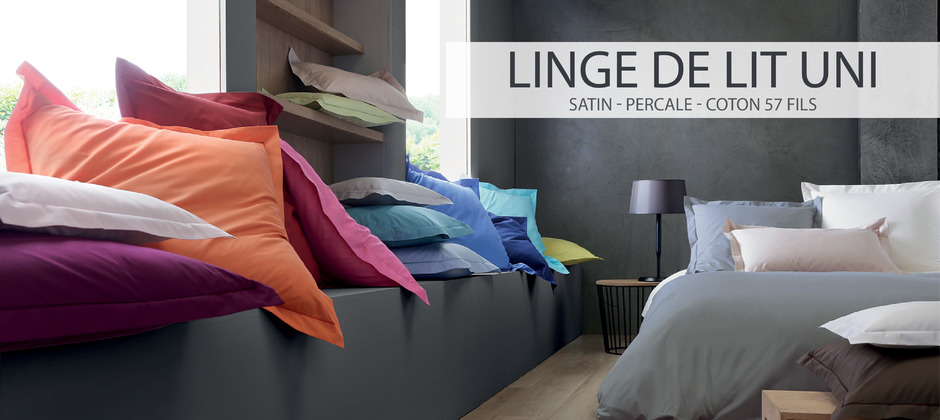 Linge de lit uni Blanc des vosges Made in France