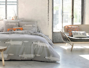 MR FOX Gris Percale 100% coton