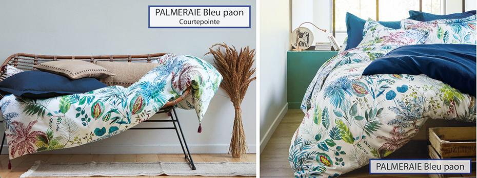 PALMERAIE Bleu Paon