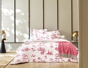 PROMENADE Bois de rose Percale 100% coton
