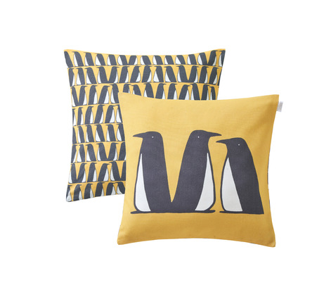 PINGOUINS_OCRE_COUSSIN_CARRE